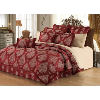 Cassandra 6 PieceReversible  Comforter Set Size: King