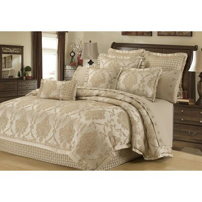 Lawerence 4 Piece Reversible Comforter Set Size: Queen
