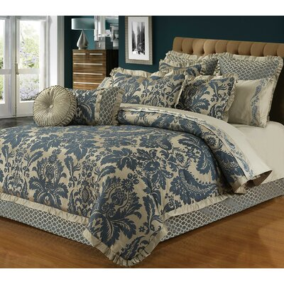 Lawton 4 Piece Reversible Comforter Set Size: Queen
