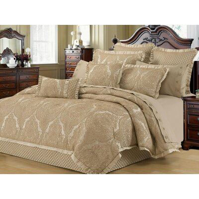 Laurus 4 Piece Reversible Comforter Set Size: King