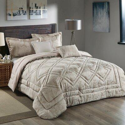Kilburn 5 Piece Reversible Comforter Set Size: King