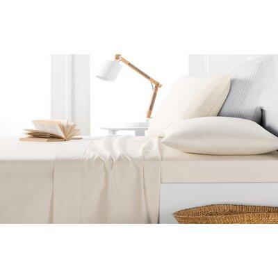 Andress Rayon Bamboo 600 Thread Count Sheet Set Size: King, Color: Ivory