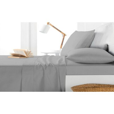 Andress Rayon Bamboo 600 Thread Count Sheet Set Size: King, Color: Gray
