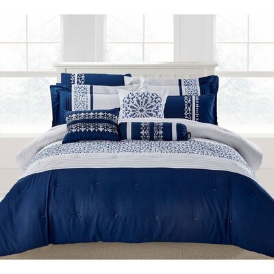 Hempstead 9 Piece Comforter Set Size: King