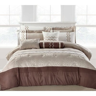 Boulevard 9 Piece Comforter Set Size: Queen
