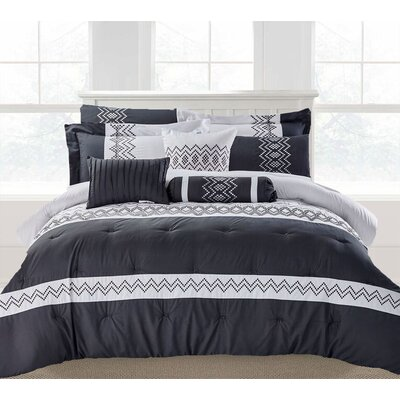 Brandie 9 Piece Comforter Set Size: King