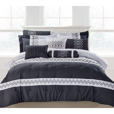 Brandie 9 Piece Comforter Set Size: Queen