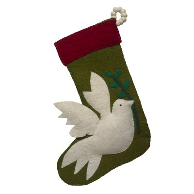 Dove Christmas Stocking Color: Red Cuff