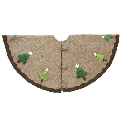 Multilayered Trees Tree Skirt Color: Brown