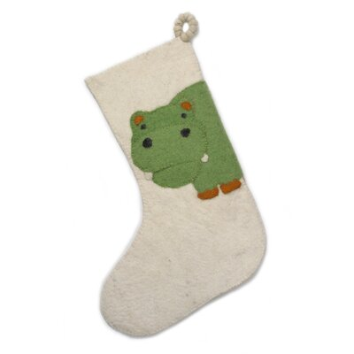 Arcadia Home Hippo Christmas Stocking SF20HW