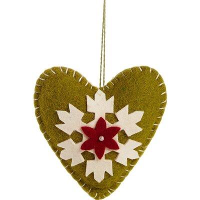 Heart Applique Christmas Ornament (Set of 3)