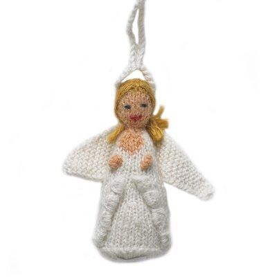 Hand Knit Angel Christmas Ornament (Set of 2)