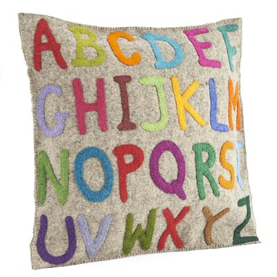 ABCs Wool Pillow Cover