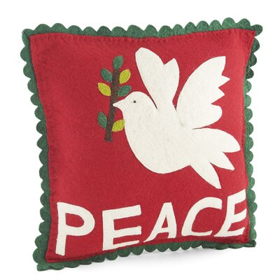 Dove of Peace Wool Pillow Cover
