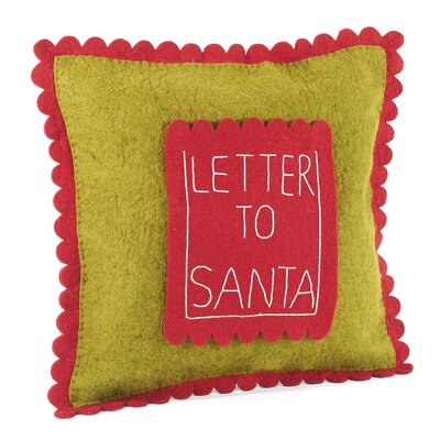 Letter to Santa Wool Pillow Cover