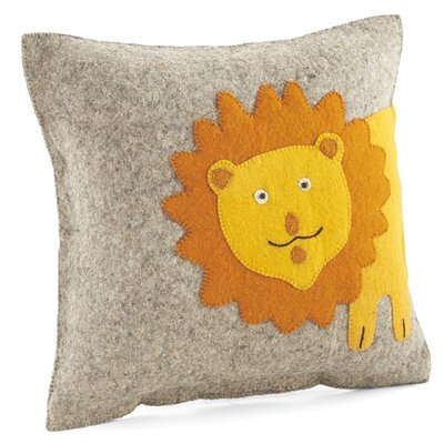 Smiling Lion Wool Pillow Cover