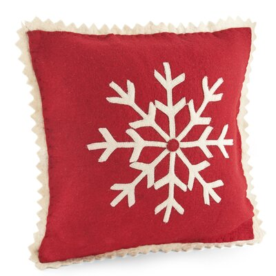 Snowflake Wool Pillow Cover