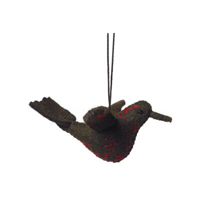 Embroidered Bird Ornament (Set of 3)