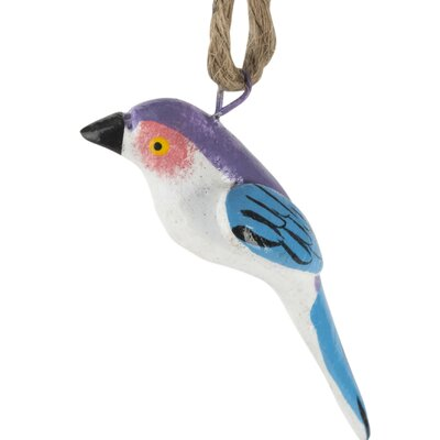 Hand Painted Ceramic Stylized Bird Ornament (Set of 6)