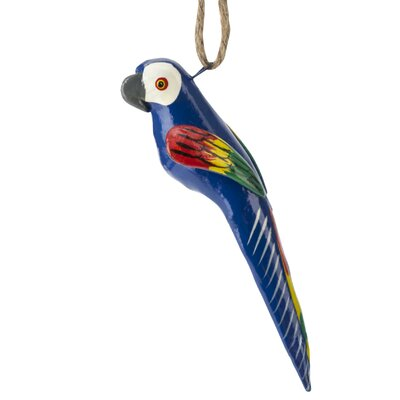 Hand Painted Ceramic Macaw Ornament (Set of 6) OCB6