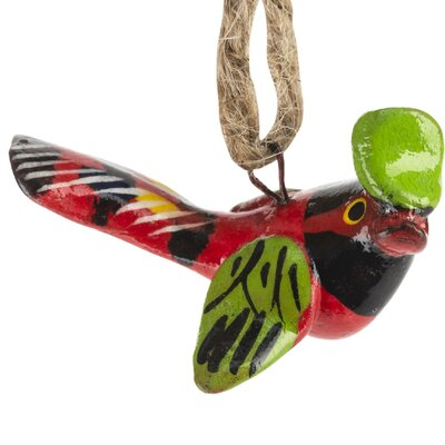 Hand Painted Ceramic Tropical Bird Ornament (Set of 6)