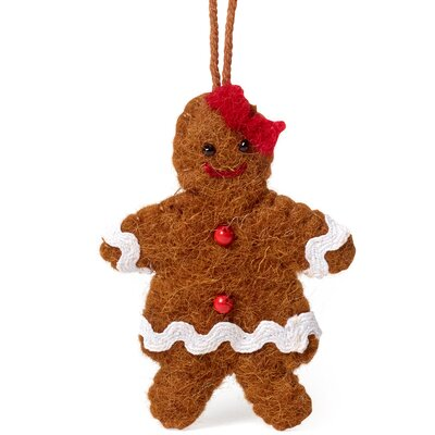 Gingerbread Girl Christmas Ornament (Set of 3)