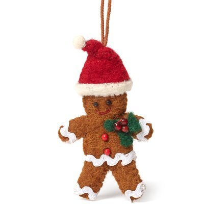 Gingerbread Boy Christmas Ornament (Set of 3)