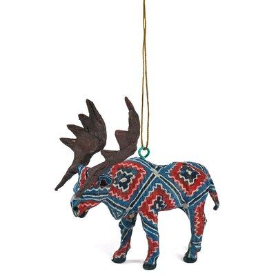 Handmade Paper Mache Moose Christmas Ornament (Set of 3)