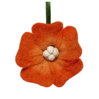 Felt Flower Christmas Ornament (Set of 3) Color: Orange