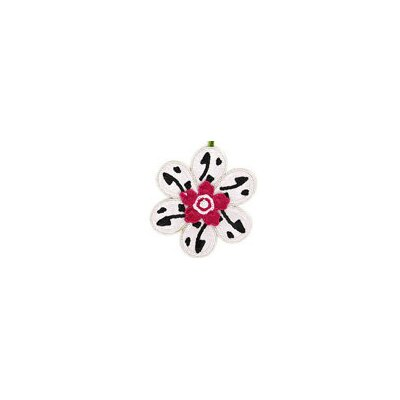 Big Sequined Flower Christmas Ornament (Set of 6) Color: White/Pink