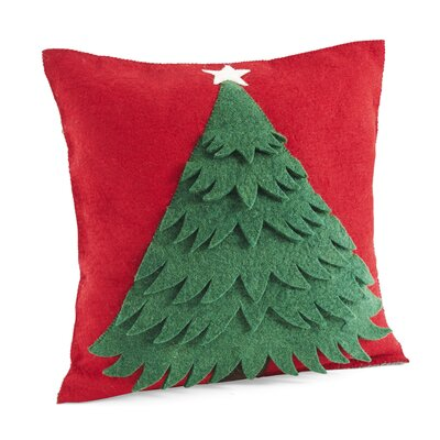 Christmas Tree Wool Pillow Cover