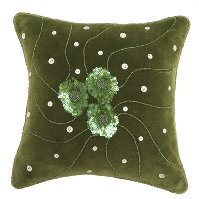 Green Velvet Throw Pillow Cover