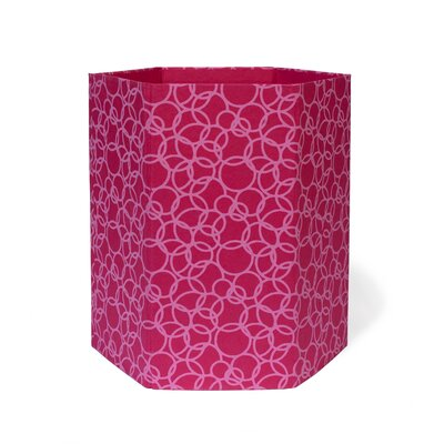 2 Gallon Waste Basket (Set of 3) Color: Pink