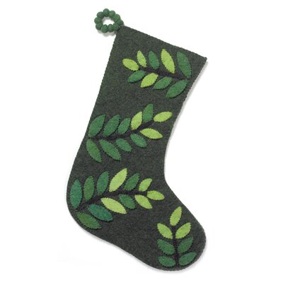 Felt Leaves Christmas Stocking
