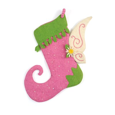 Hand Felted Wool Fairy Christmas Stocking