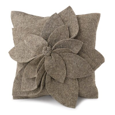 Allyson Wool Pillow Cover Color: Gray