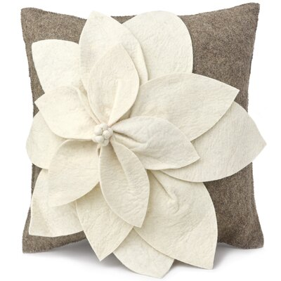 Allyson  Wool Pillow Cover Color: Cream