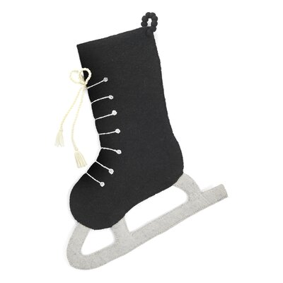 Hand Felted Wool Ice Skate Stocking