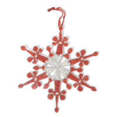 Baroque Hand Beaded Snowflake Ornament (Set of 2) OBL113