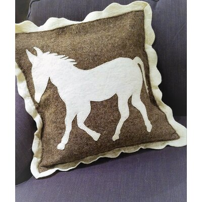 Lecompte Horse Hand Felted Wool Pillow Cover