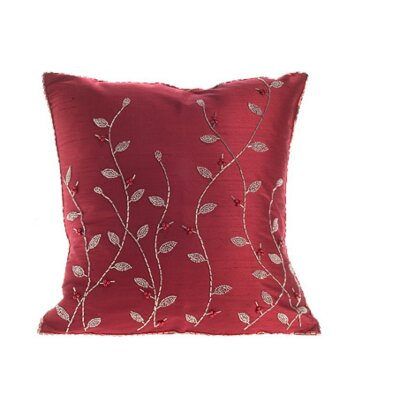 Silk Throw Pillow Cover Size: 20 H x 20 W x 6 D