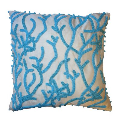 Silk Throw Pillow Cover Size: 16 H x 16 W x 6 D, Color: Blue
