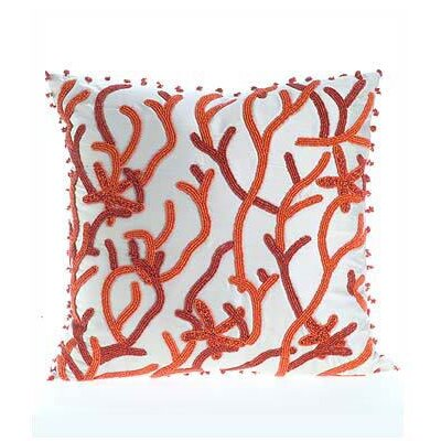 Silk Throw Pillow Cover Size: 16 H x 16 W x 6 D, Color: Coral