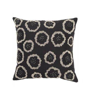Silk Throw Pillow Cover Color: Black