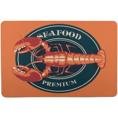 Coastal Lobster Seafood Floor Mat