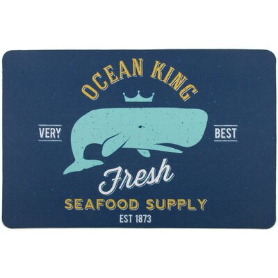 Coastal Ocean King Whale Floor Mat