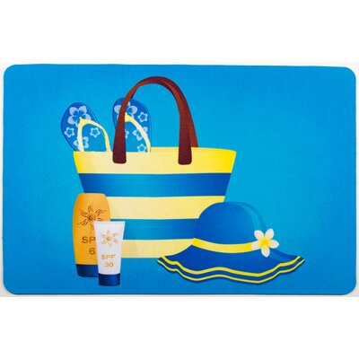 Coastal Summer Fashion Floor Mat