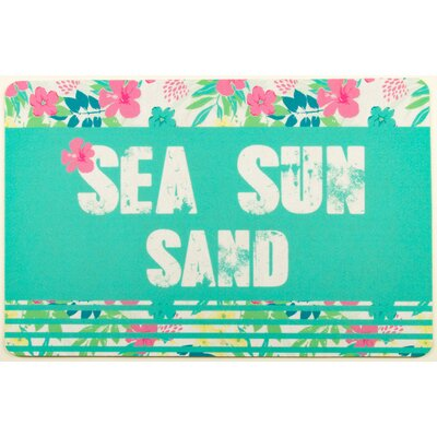 Coastal Sea Sun Sand Doormat