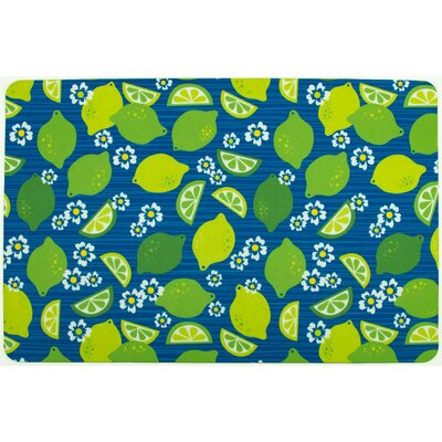 Garden Limes and Daisies Doormat