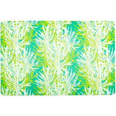 Tropical Palm Springs Doormat Color: Aqua/Lime/White